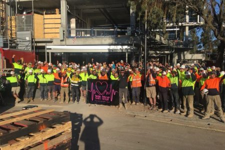 CFMEU Members at Kane's job Werribee raised $6,115