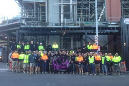 CFMEU Members at Maxcon Spencer Street raised $7,000