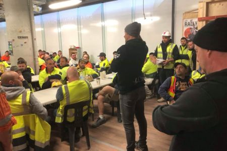 CFMEU Members at Hacer Elizabeth Street raised $5,350