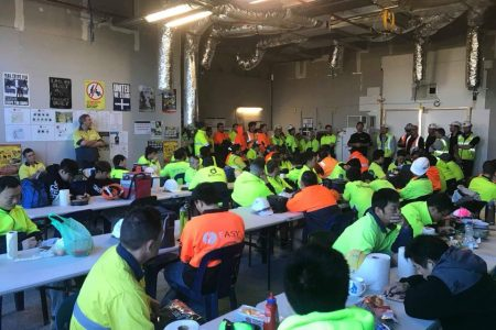 CFMEU Members at Hacer sit Epping raised $3,290