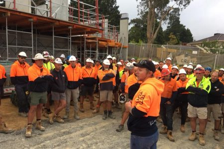 CFMEU Members at Crema job in East Doncaster raised $6,400